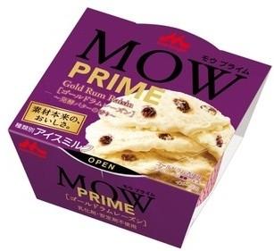 森永 MOW PRIME ゴールドラムレーズン 発酵バターの香り カップ140ml