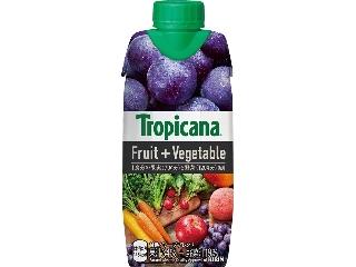 トロピカーナ フルーツ+ベジタブル 甘熟グレープブレンド パック330ml