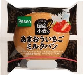 Pasco 国産小麦のあまおういちごミルクパン 袋1個