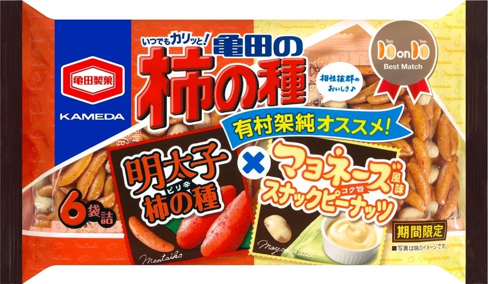 亀田製菓 亀田の柿の種明太子×マヨピーナッツ 袋170g