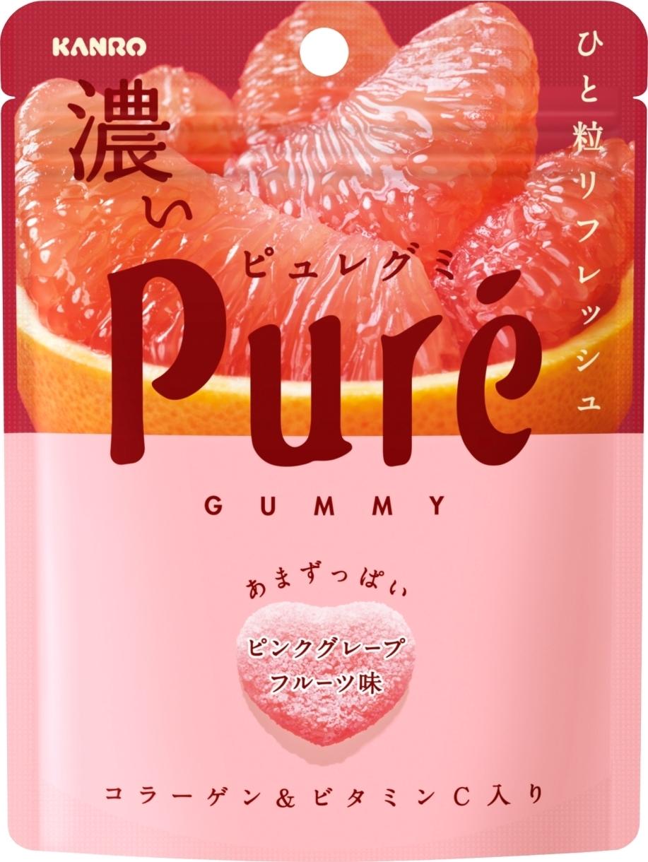 カンロ ピュレグミ 濃いピンクグレープフルーツ