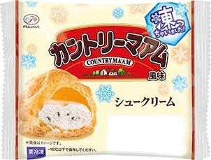 不二家 シュークリーム凍っちゃいました! カントリーマアム風味