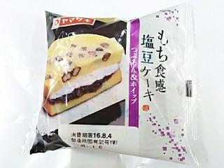 ヤマザキ「もち食感 塩豆ケーキ つぶあん&ホイップ」