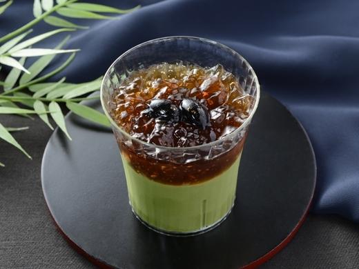 ローソン 黒蜜ジュレと丹波黒豆の宇治抹茶プリン