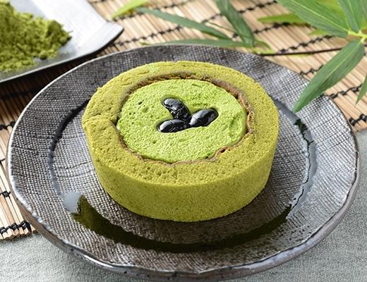 ローソン プレミアム宇治抹茶と丹波黒豆のロールケーキ