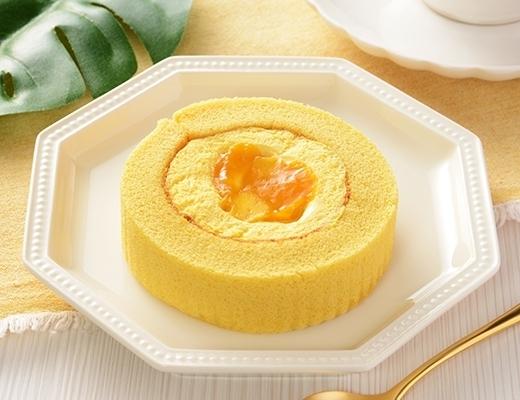 ローソン マンゴーとパッションフルーツのロールケーキ
