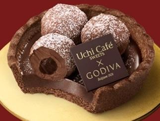 ローソン Uchi Cafe' SWEETS×GODIVA タルトトリュフ オ ショコラ