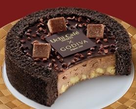 ローソン Uchi Cafe' SWEETS×GODIVA ショコラアイスクリームロールケーキ 57ml