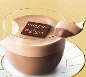 ローソン Uchi Cafe' SWEETS GODIVA ダブルショコラプリン