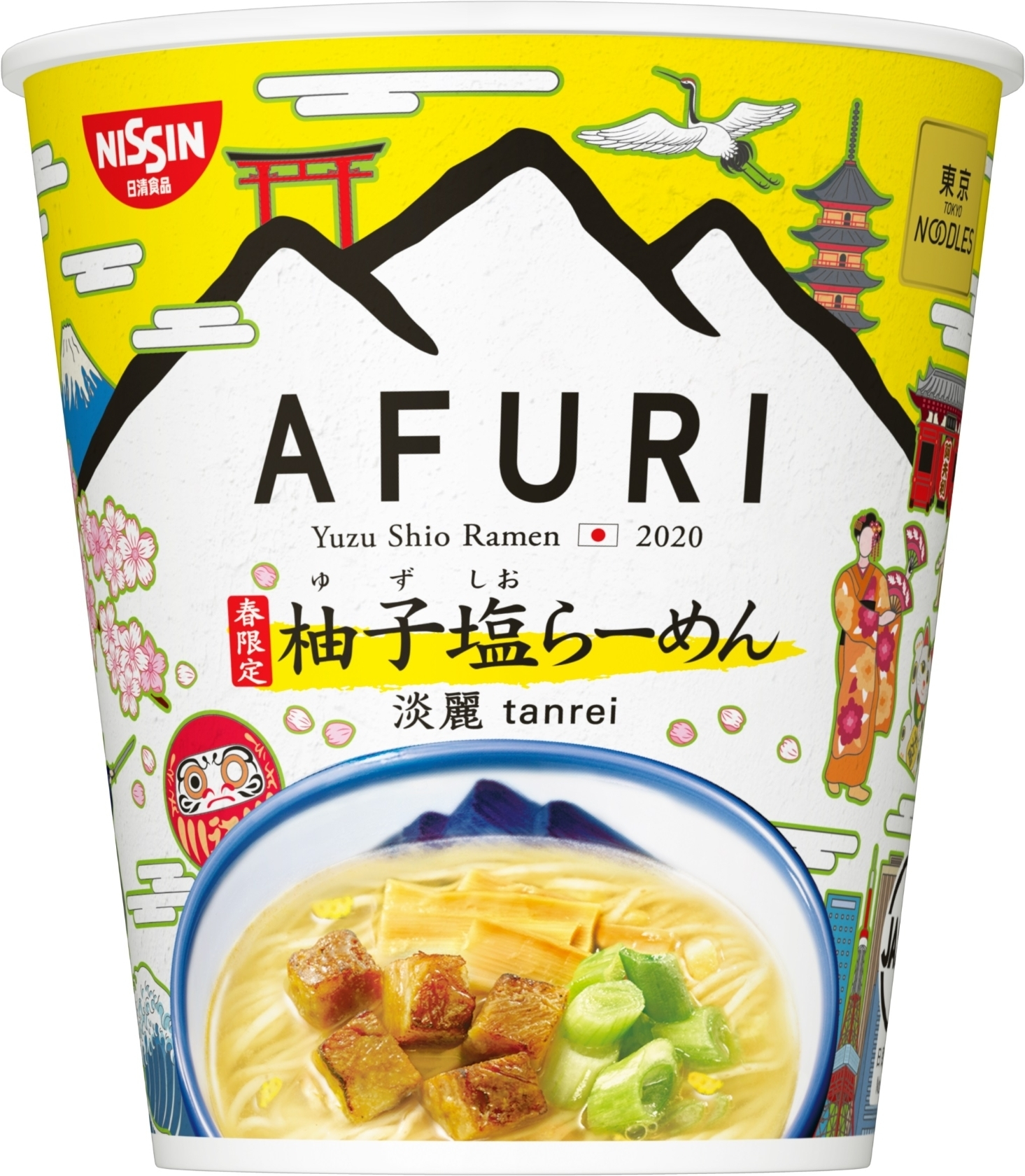 日清食品 東京NOODLES AFURI 春限定 柚子塩らーめん 淡麗
