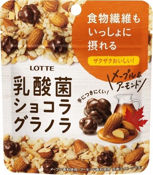 ロッテ 乳酸菌ショコラ グラノラ メープル&アーモンド 袋34g