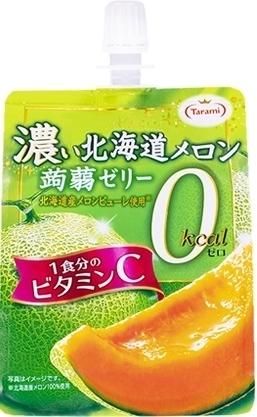 たらみ 濃い北海道メロン0kcal蒟蒻ゼリー 袋150g