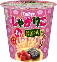 カルビー じゃがりこ 梅と韓国のり風味 カップ52g
