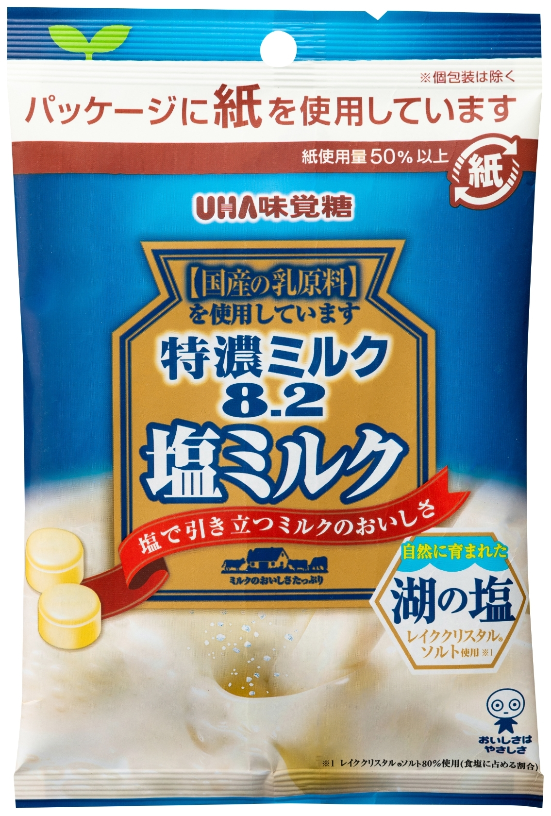 UHA味覚糖 特濃ミルク8.2 塩ミルク 袋75g