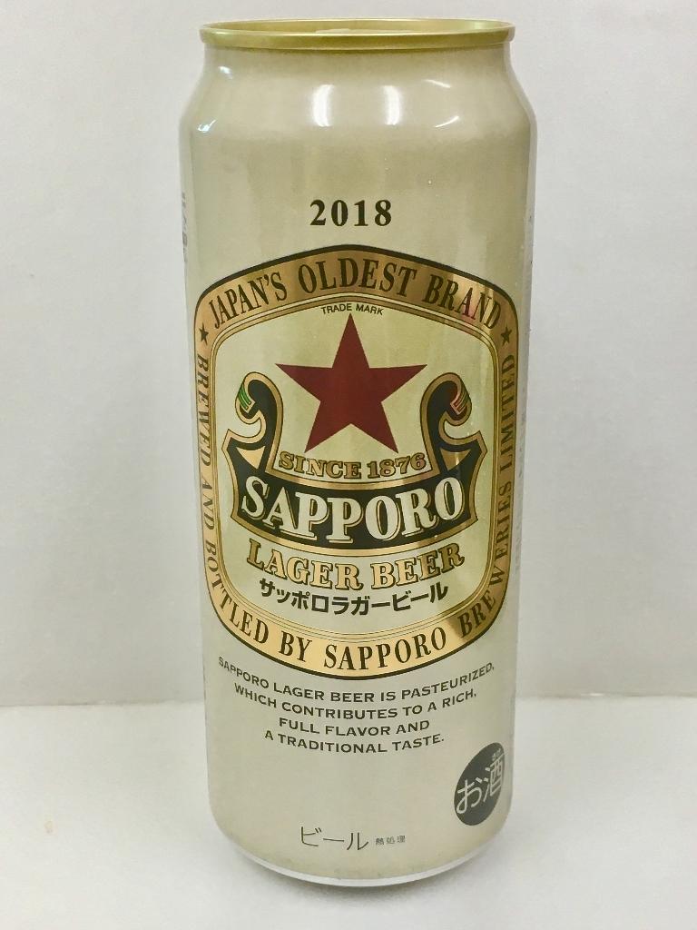 高評価】サッポロ ラガービール 缶500ml[サッポロビール][発売日:2018/10