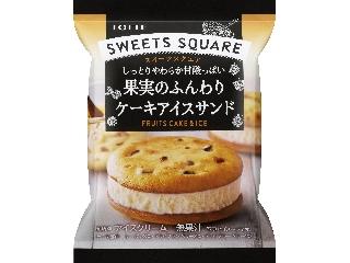 ロッテ SWEETS SQUARE 果実のふんわりケーキアイスサンド 袋50ml