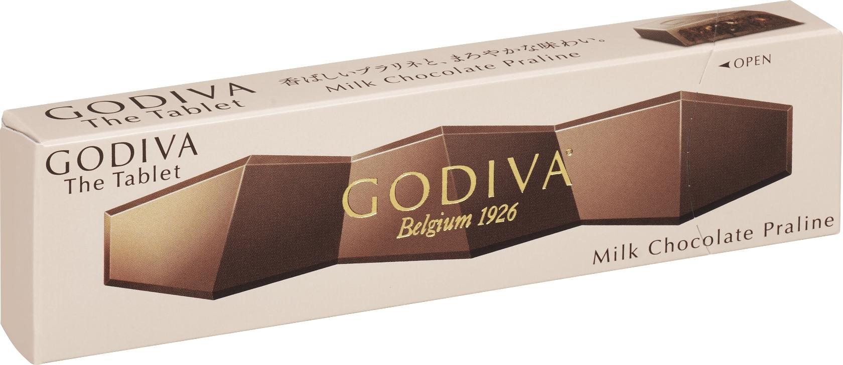 ゴディバ ゴディバ ザ タブレット ミルクチョコレート プラリネ