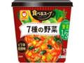 マルちゃん 食べるスープ 7種の野菜 ピリ辛担担味 カップ29g