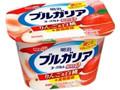 明治 ブルガリアヨーグルト りんご&白桃+食物繊維 カップ180g