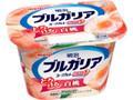 明治 ブルガリアヨーグルト 脂肪0 とろける白桃 カップ180g