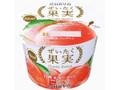 オハヨー ぜいたく果実 白桃&ヨーグルト カップ125g
