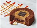 ローソン Uchi Cafe' SWEETS×GODIVA キャラメルショコラロールケーキ