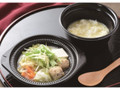 ローソン 鍋から〆まで楽シメる 鶏つくねの鶏だし生姜鍋 玉子雑炊