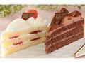 ローソン Uchi Cafe' SWEETS パーティーケーキ 苺&チョコ 2個