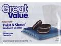 グレートバリュー チョコレートトゥイスト&シャウトサンドイッチクッキー 袋510g