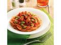 カフェ・ド・クリエ パスタ グリルチキンと枝豆のトマトソース