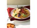 カフェ・ド・クリエ パスタ 豚しゃぶと夏野菜の和風仕立て