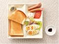 カフェ・ド・クリエ 彩りモーニングプレート ゆで卵とソーセージ