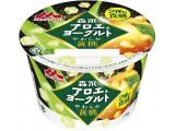 森永 森永アロエ&ヨーグルト 2種の食感 やわらか黄桃 カップ118g