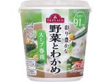 トップバリュ 彩り豊かな野菜とわかめ スープ春雨 カップ27.1g