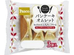 Pasco パンケーキオムレット キャラメルホイップ&りんごクリーム 袋3個