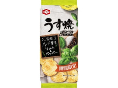 亀田製菓 うす焼グルメ ハーブ香るソルト&ペッパー 袋75g