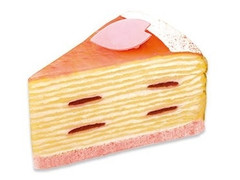 不二家 小田原産桜のミルクレープ