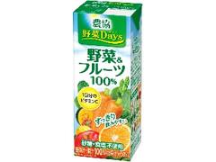 農協 野菜Days 野菜&フルーツ 100% パック200ml