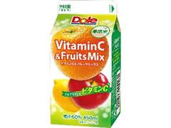 Dole VitaminC&FruitsMix パック450ml