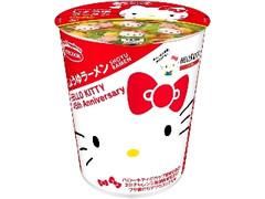 エースコック ハローキティ 45周年 お祝いカップ麺 しょうゆラーメン カップ52g