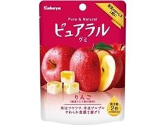 カバヤ ピュアラルグミ りんご 袋45g