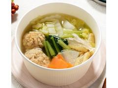 ローソン 1/2日分の野菜 塩ちゃんこ風鶏団子スープ