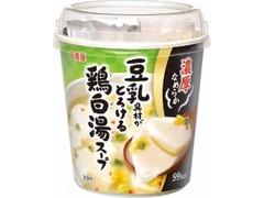 丸美屋 豆乳具材がとろける 鶏白湯スープ カップ85.4g