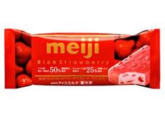 明治 リッチストロベリーチョコレート アイスバー 袋90ml