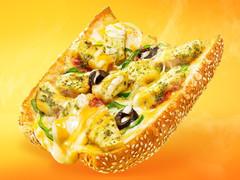 サブウェイ サンドイッチ ピザ バジルトマトチキン