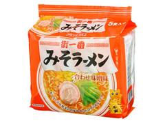 ニュータッチ 街一番 みそラーメン 合わせ味噌味 5食入り 袋88g×5