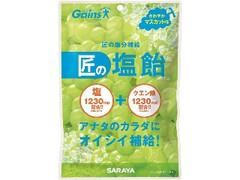 サラヤ 匠の塩飴 マスカット味 袋100g