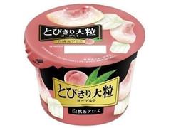 HOKUNYU とびきり大粒ヨーグルト 白桃&アロエ