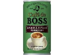 サントリー カフェ・ド・ボス ほろあまエスプレッソ 缶185g