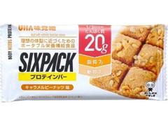 ユーハイム SIXPACKプロテインバー キャラメルピーナッツ 袋40g